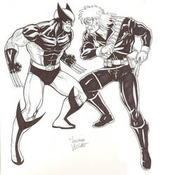 Wolverine vs Longshot by NewPlanComics