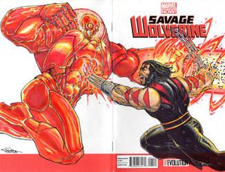 Savage Wolverine AOA Cover by NewPlanComics