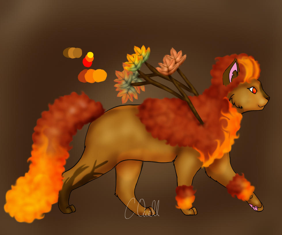 PERSONAL Afro Cat! Fire Dance by ChocolateQuill