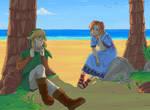 Link and Marin by SayAki-kun