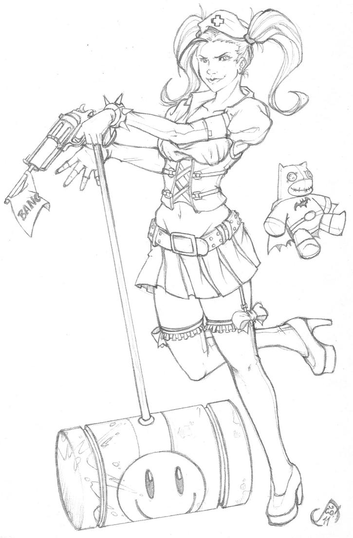 Harleyquinn by jaoramos on deviantart for Harley quinn coloring pages