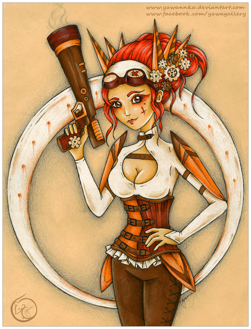 Steampunk girl by Yawannka