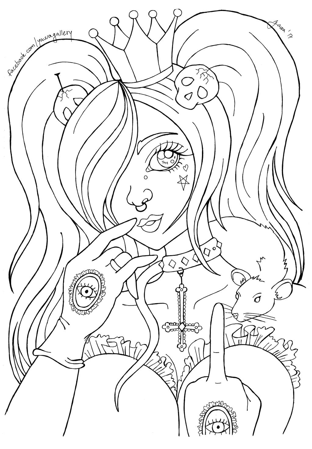 It is an image of Trust Punk Coloring Pages