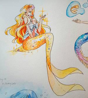 MerMay 23 - 2017 - Gold Mermaid