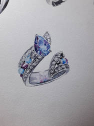 Watercolors - Jewelry 02 by SarAngelyst
