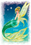 MerMay 2019 - Day 11. Tinker Bell [Print ver] by SarAngelyst