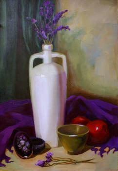 Flower and Vase Still Life.