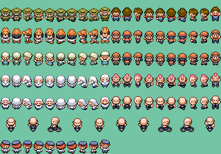The Accurate FireRed Overworld Sprite Resource by spherical