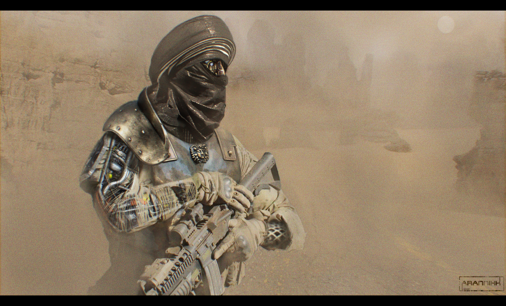 Sketch - The Desert Raid by AranniHK