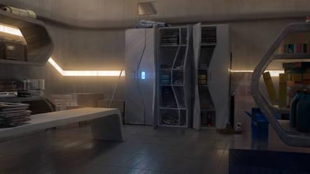 The Uncertain - Staff Room Concept Art by AranniHK