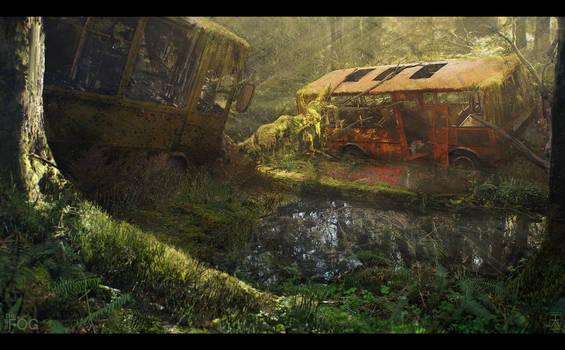 Project FOG - Abandoned Busses - Daytime by AranniHK
