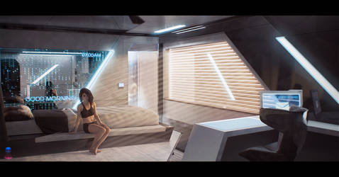 Dark Stars - Scifi Interior by AranniHK