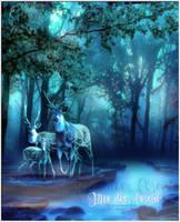 Blue deer forest