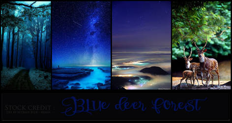 Stock credit of Blue deer forest