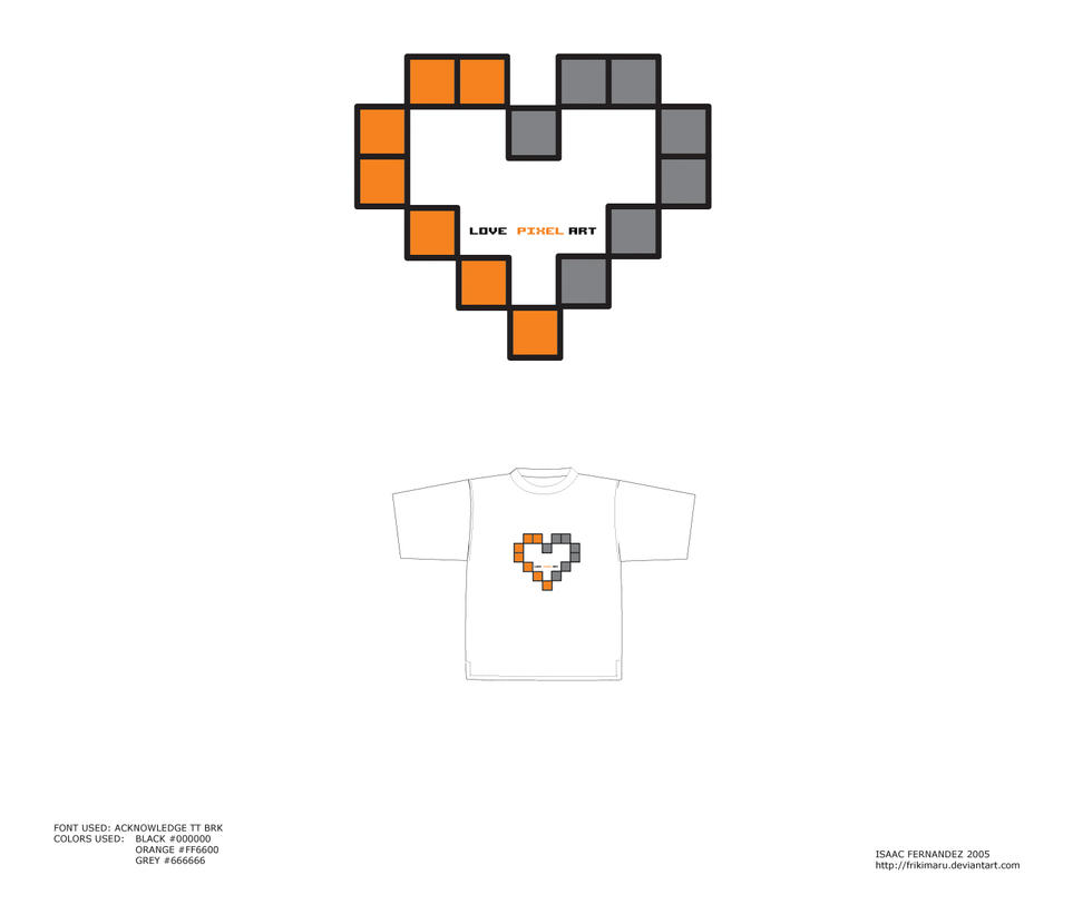 love pixel art t shirt by frikimaru on deviantart. Black Bedroom Furniture Sets. Home Design Ideas