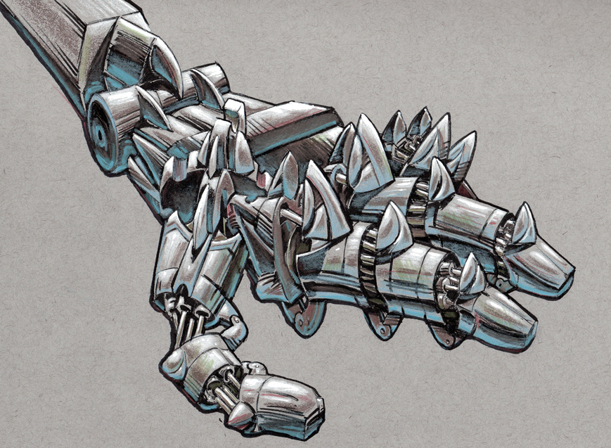Robot Hand by MisterBlackwood
