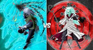 DMS Rikudo Kakashi vs Juubi jinchuriki Madara