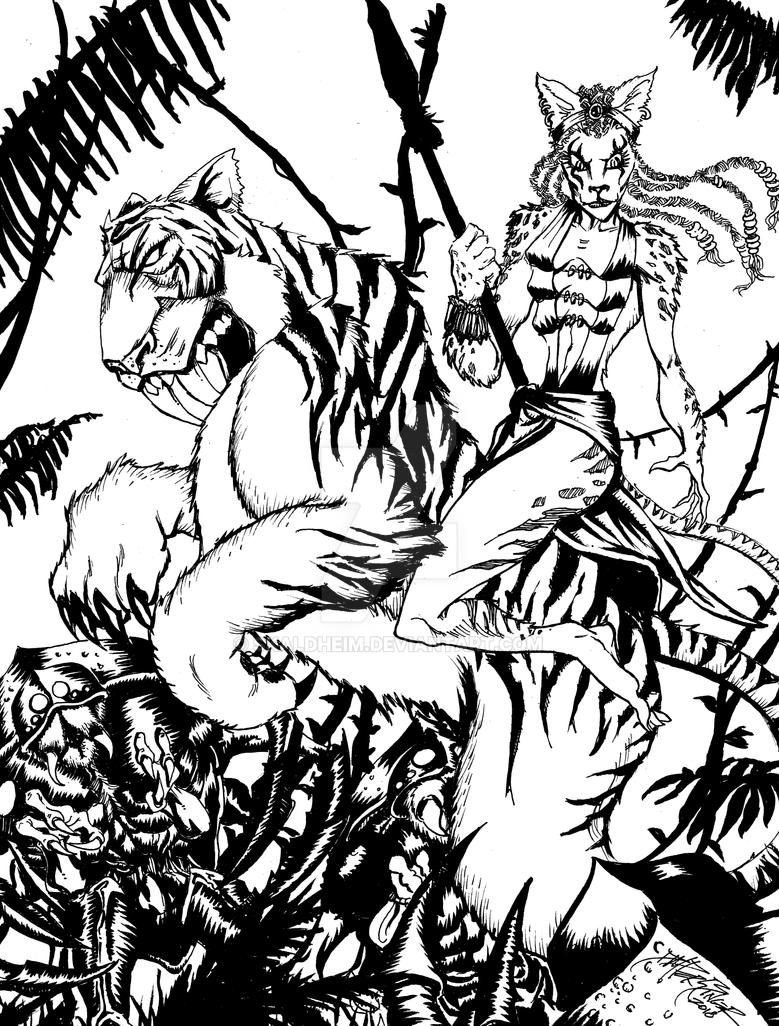Tiger Grrrl by Skaldheim