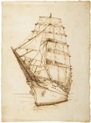 Tall ship by 403shiomi