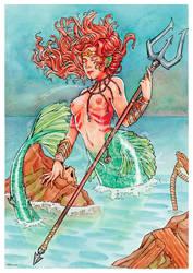 Warrior Mermaid by Dark-Arya