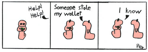 worm - wallet by peT-the-dead