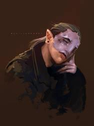 Alien portrait by Zyralynn