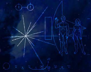 Cosmic Pioneer Plaque by saintabyssal
