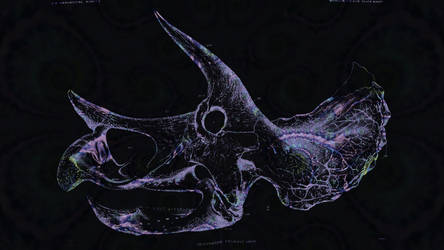 Triceratops Skull Fractal Wallpaper by saintabyssal