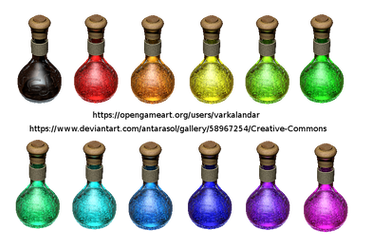 12 Pixie Dust Flasks by Antarasol