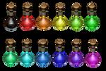 12 Pixie Dust Flasks