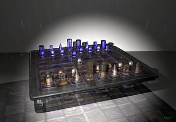 Chess Set 'Red vs Blue' v1.1 by Antarasol