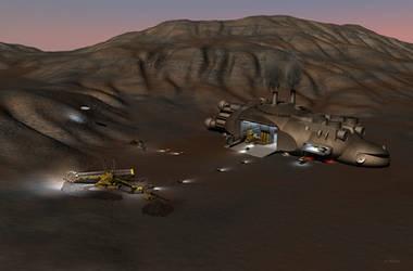 Future retro space mining, 'Planet Eater'