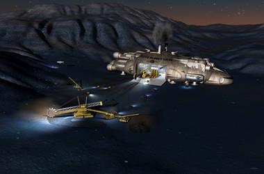 Azurite Surface Mining