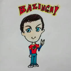 BAZINGA! SheldonCooper TBBT by PieroGutVas13