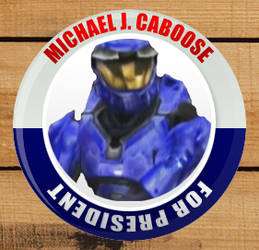 Caboose for President Badge