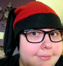 Red and Black Bunny Ear Hat