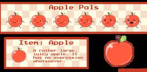 pixel apples
