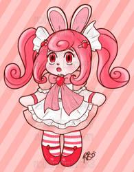 Strawberries and Cream Candy Bun (OTA, OPEN)