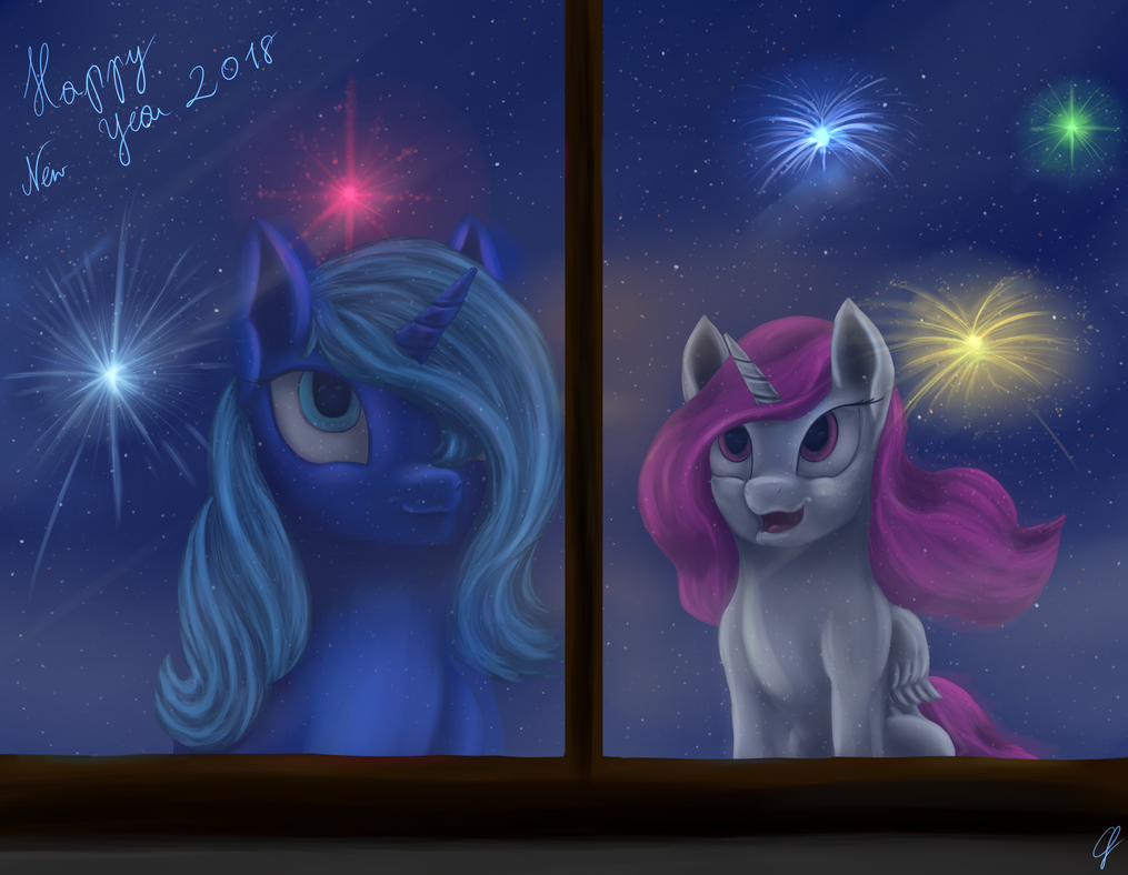 Happy New Year 2018 by CometFire1990