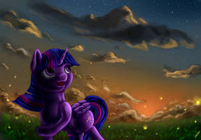 Twilight sunset by CometFire1990