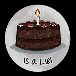 The Cake is a Lie Button
