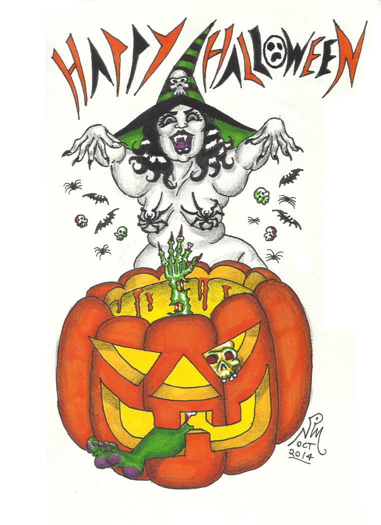 Halloween Cauldron - 2014 by LimeGreenSquid