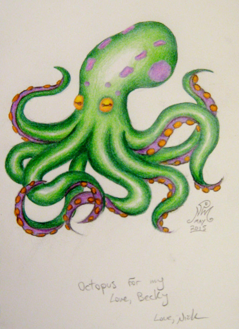 Green Octopus For Becky by LimeGreenSquid