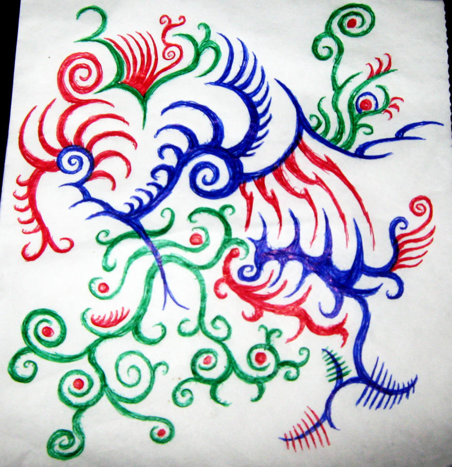 Doodle Designs - Bird flower by LimeGreenSquid