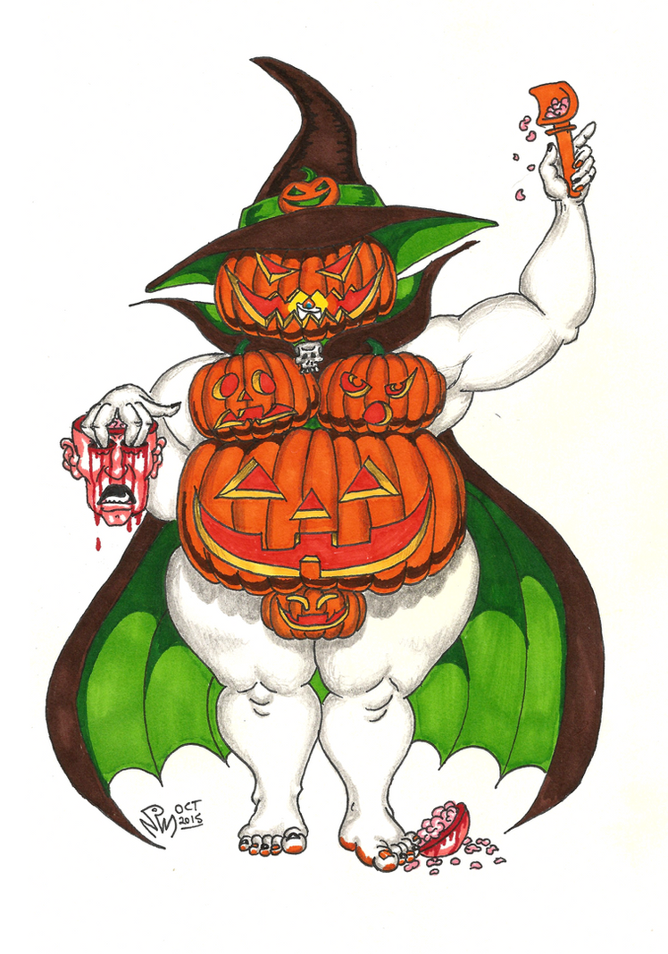 Jacqueline Lantern the Pumpkin Witch by LimeGreenSquid