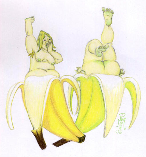 chasse aux images - Page 3 Banana_Babes_by_LimeGreenSquid