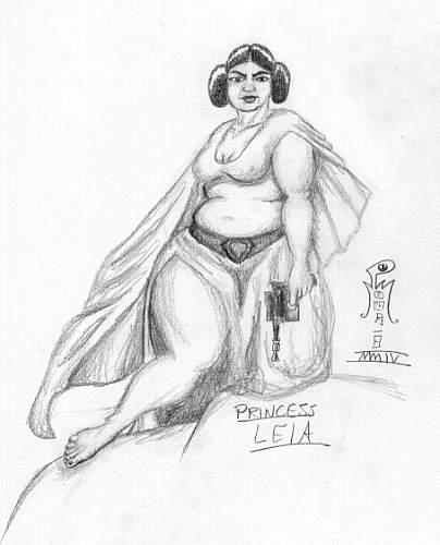 Princess Leia - Plump by LimeGreenSquid