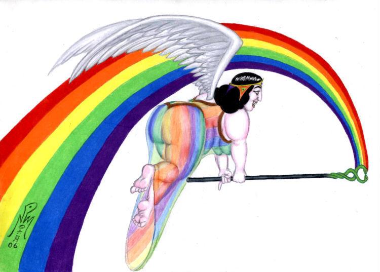 Iris - Goddess of The Rainbow by LimeGreenSquid