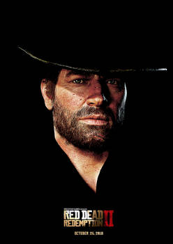 Red Dead Redemption 2 - Arthur Morgan Movie Poster