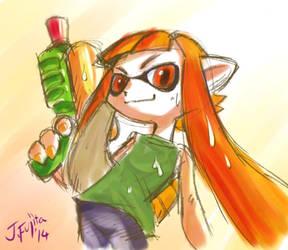 Squid girl by j-fujita